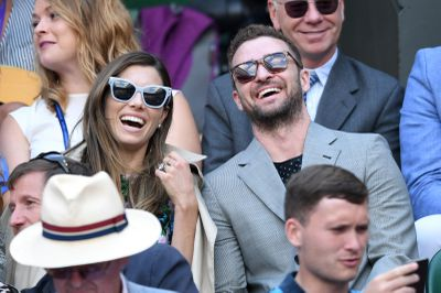 Jessica Biel and Justin Timberlake at Wimbledon 2018