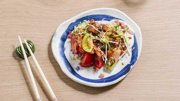 Tomato salad with ume dressing