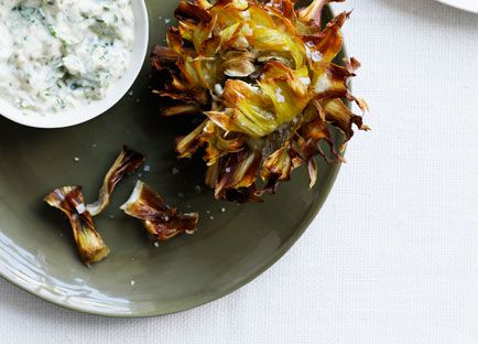 Fried artichokes with gribiche