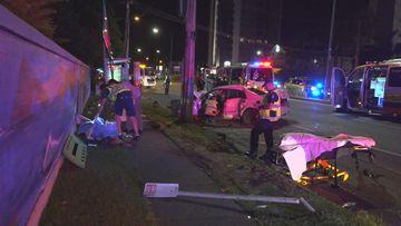 Queensland border chase crash