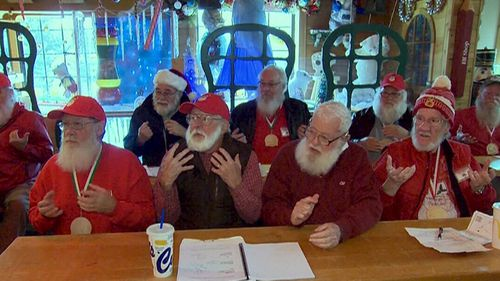 After we arrived I very quickly found myself face to face with not one, but 30 or so white-bearded gentlemen. (9NEWS)