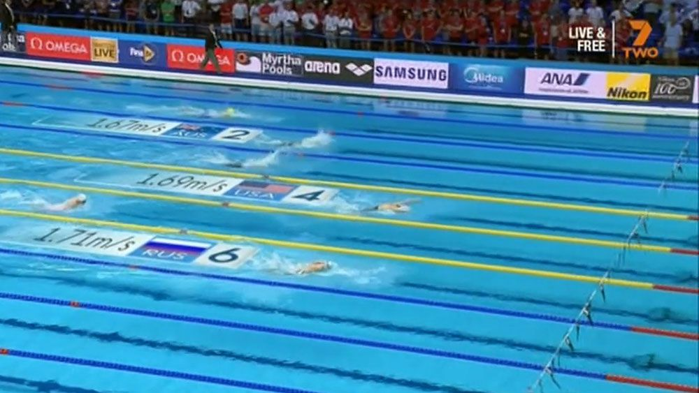 Australian women's 4x100 medley relay team.