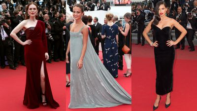 Cannes gave velvet its moment in the spotlight. Julianne Moore in Givenchy Haute Couture and Adriana Lima in Ulyana Sergeenko Couture both joined the bandwagon, but it was Alicia Vikander in Valentino Haute Couture that really sealed the deal.