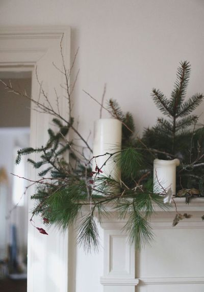 Create a foraged mantel piece