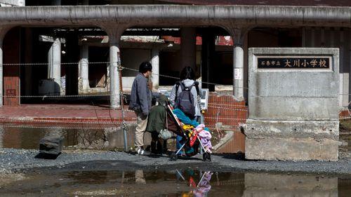 A deserted school in the Fukushima prefecture. (AP).