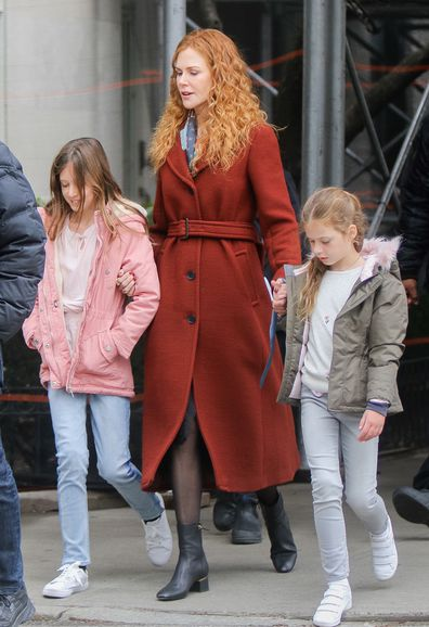 Nicole Kidman and her daughters Faith Margaret in March 2019