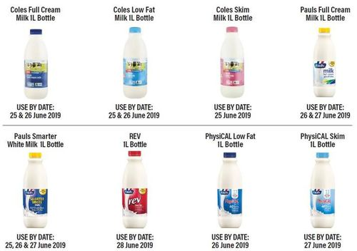 Eight products from the Pauls and Coles Milk range have been recalled amid fears they may contain a cleaning chemical.