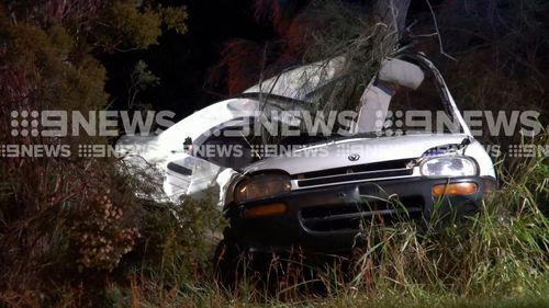 A 22-year-old NSW driver was killed after his car came off a road on the NSW Far North Coast and hit a tree overnight.