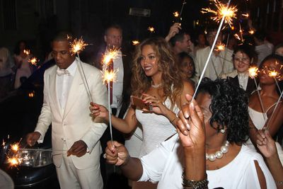 Let's sing it together, Bey fans: 'In the darkest night hour...'<br><br>Image: Splash