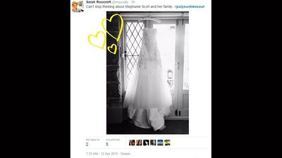 <p>Social media has users have paid tribute to slain teacher Stephanie Scott, with scores of women paying their respects to the bride-to-be by posting photos of their wedding dress using the hashtag #putyourdressout.</p><p></p>