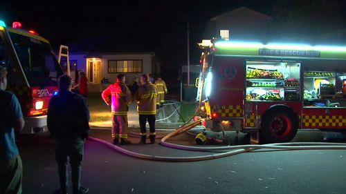 Emergency services were called to the blaze early this morning. (9NEWS)