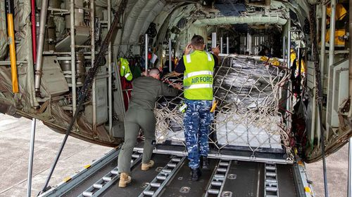 Supplies from Australia have begun arriving in PNG capital to assist with the nation's fight against COVID-19.