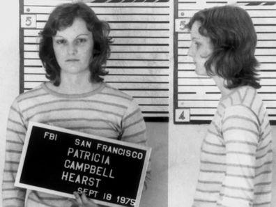 Patty Hearst's 1975 mugshot.