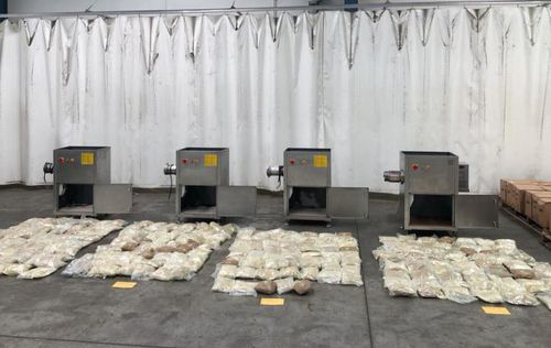 A huge haul of MDMA worth $57 million has been found on a shipping container from Turkey.