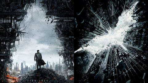 Star Trek Into Darkness poster/The Dark Knight Rises poster. Images: Warner Bros/Paramount Pictures