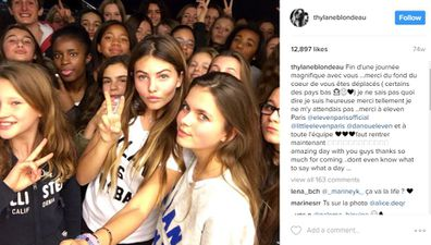Prettiest girl on Earth Thylane Blondeau poses for Instagram photo