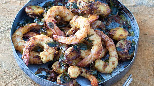 Leanne Kitchen and Antony Suvalko's prawn and potato curry