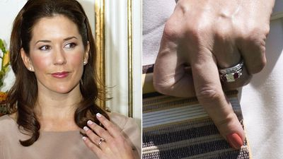 Crown Princess Mary's diamond and ruby ring