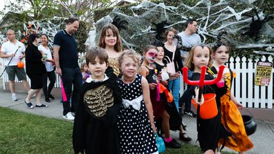 Halloween. Trick Treaters in Willoughby. 31st Oct 2019. Photo: Edwina Pickles.