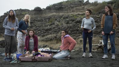 Amazon Original series, The Wilds, cast, Helena Howard, Mia Healey, Shannon Berry, Sophia Ali, Reign Edwards and Sarah Pidgeon.
