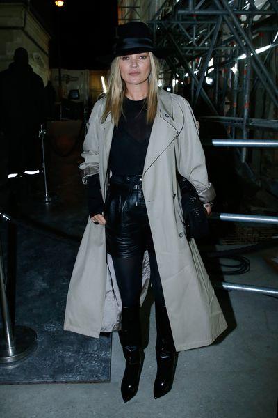 Kate Moss at Saint Laurent Spring/Summer '18