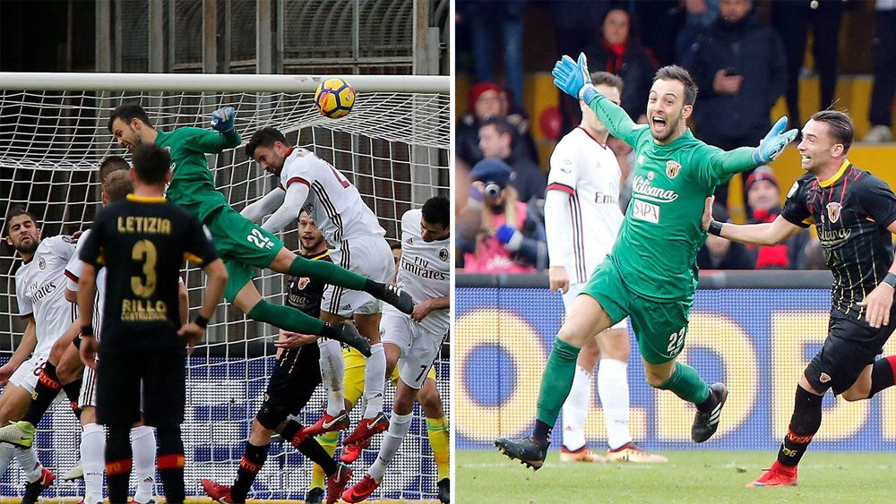 Goalkeeper Alberto Brignoli's head gives Benevento first point in Serie A