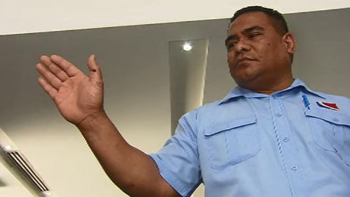 One of the fare evaders bit Mr Tuiloma on the hand. (9NEWS)