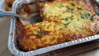 Hash brown lasange has become popular on social media
