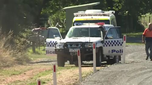 Emergency services at the scene today. (9NEWS)