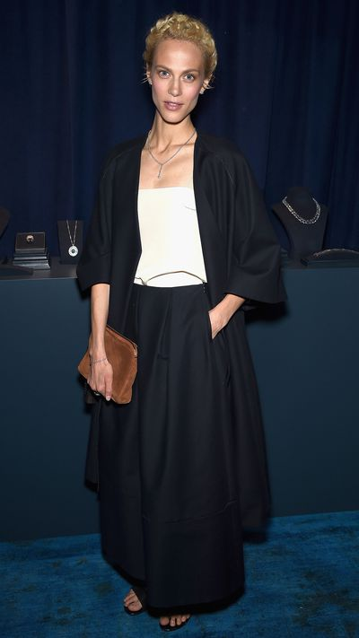 <p>At a Tiffany & Co. dinner in New York.</p>