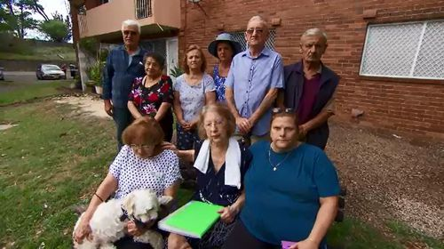 A group of elderly public housing residents are angry after their gardens were destroyed.