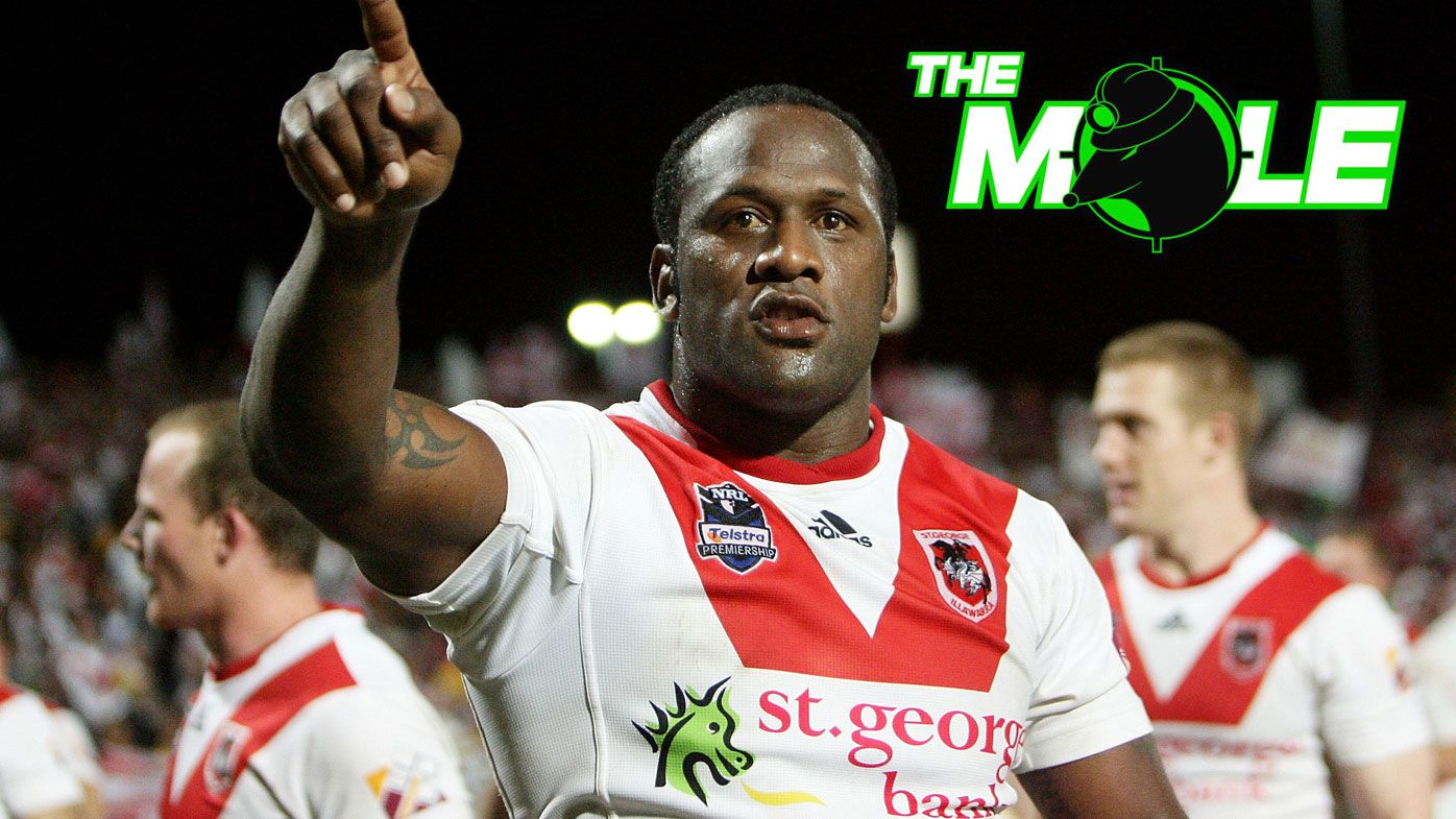 The Mole: Wendell Sailor's son Tristan moves close to NRL debut for Dragons