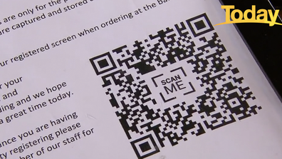 QR codes, like the one seen above, have become an important tool for recording patron details.