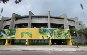 Man lived in US football stadium for weeks and stole thousands in merchandise before caught