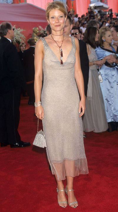 "Paltrow also has regrets about this Calvin Klein number she wore in 2000. ""It's an okay dress but not Oscars material. I chose it because I wanted to disappear that year."""