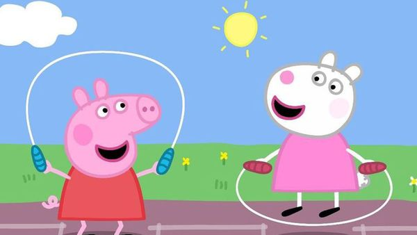 Peppa Pig and Suzy Sheep