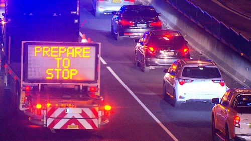 The fatal collision is the second pedestrian death on the M2 in the past two weeks. Picture: 9NEWS