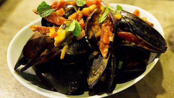 Ray Larkins' Spanish mussels with chorizo