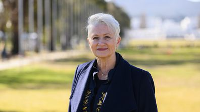 Dr Kerryn Phelps outside of parliament house