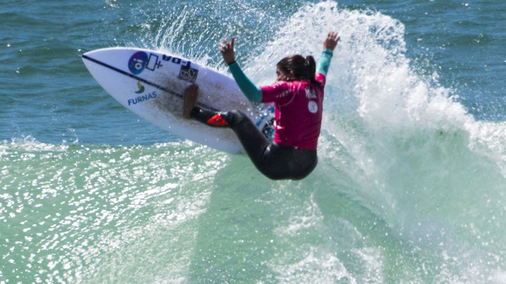 Brazil's Silvana Lima won the women's surfing event in Sydney. (AAP)