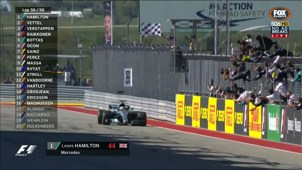 Hamilton wins US Grand Prix