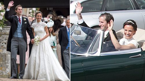 Pippa Middleton, 33, and financier James Matthews, 41, married at St Mark's Church in Englefield. (AAP)
