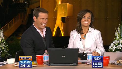 Karl Stefanovic with TODAY co-host Lisa Wilkinson. (9NEWS)