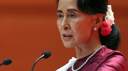 Myanmar's de-facto head of state  Aung San Suu Kyi has been strongly criticised for the violence against the Rohingya people. (Photo: AP).