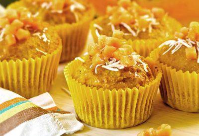 """Recipe: <a href=""""/recipes/icoconut/9033276/papaya-and-coconut-muffins"""" target=""""_top"""">Papaya and coconut muffins</a>"""