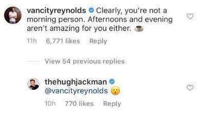 Ryan Reynolds, Hugh Jackman, Instagram, coffee commercial