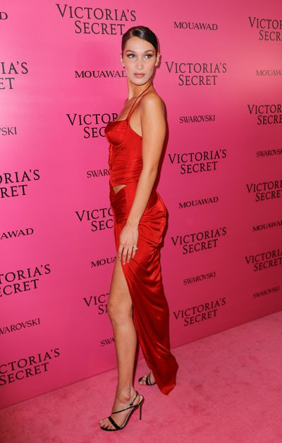 Bella Hadid in custom-made Alexandre Vauthierat the 2017 Victoria's Secret Fashion Show After Party
