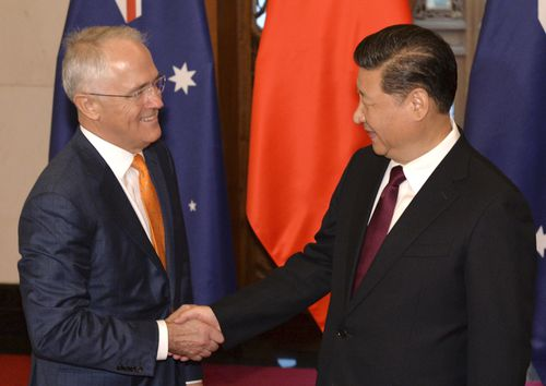 Like previous prime ministers, Malcolm Turnbull is careful not to get China's Xi Jinping offside. (AAP)