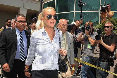 You would think Lindsay Lohan has everything girl wants, but in 2011 she was sentenced to four months in jail over the theft of a gold necklace from a shop in Los Angeles in 2010. The actress never physically went behind bars, but was ordered to serve time under house arrest over the $2500 jewellery theft and complete 480 hours of community work at a women's shelter.