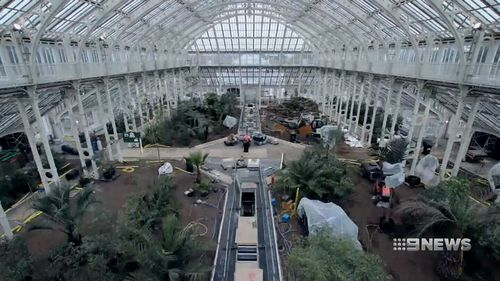 The Temperate House of the gardens has been newly-restored. (9NEWS)